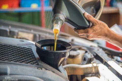 Adding oil to engine